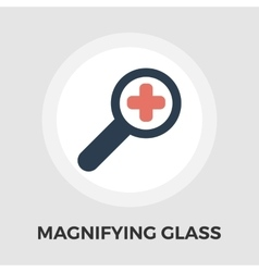 Search single flat icon vector image