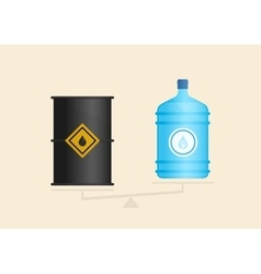 Water and oil on scales vector image vector image