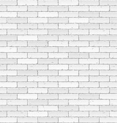 white brick wall vector image vector image