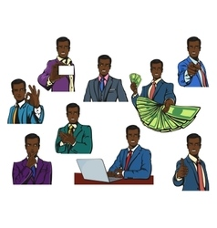 African or afro black successful businessman with vector image vector image