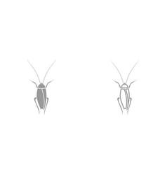 cockroach it is black icon vector image