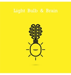 Creative brain logo and light bulb icon vector image vector image