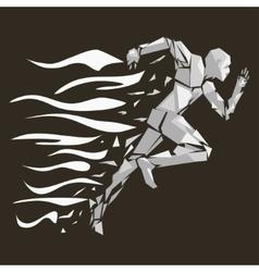 fire running man vector image