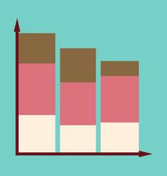 Flat icon on stylish background economic chart vector