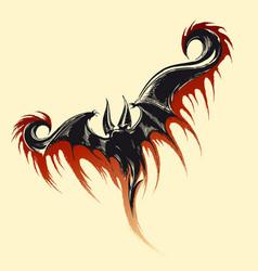 flying demon sketch vector image vector image