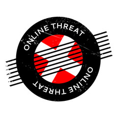 online threat rubber stamp vector image