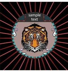 Portrait of a tiger vector image