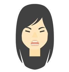 Screaming aggressive woman vector