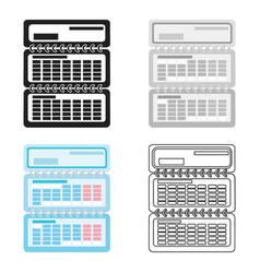 calendar icon in cartoon style isolated on white vector image