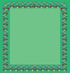 frame greeting of the colors square vector image vector image