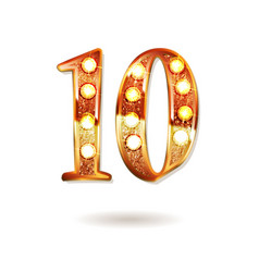 10th golden anniversary logo vector