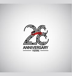 28 years anniversary logotype flat design vector