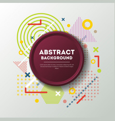 abstract background and red plate vector image