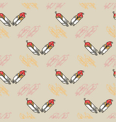 abstract seamless pattern with feathers on grey vector image