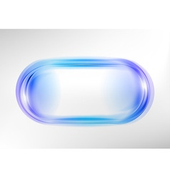 Abstract shape white blue oval vector
