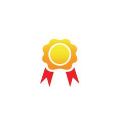 accolades medallion with ribbon award logo vector image