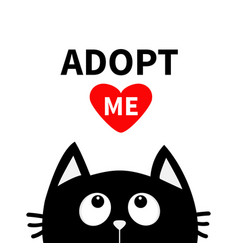 Adopt me dont buy red heart black cat face head vector