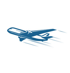 Aircraft airplane airline logo or label journey vector