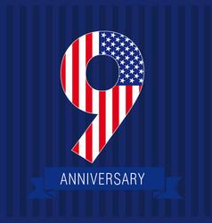 Anniversary 9 usa vector