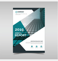 Annual report book cover template vector