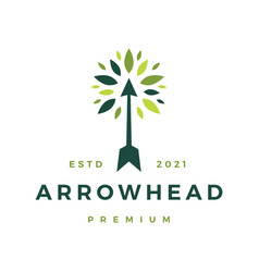 Arrow hand tree leaf logo icon vector