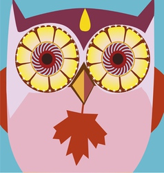 Autumn owl vector