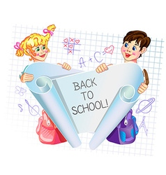 back to school 3 vector image