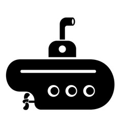 Bathyscaphe with periscope icon simple style vector