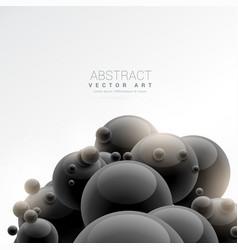Black 3d sphere molecules background vector