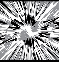 black white and gray splash abstract vector image