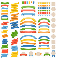 blank ribbon and badge vector image