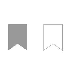 bookmark it is black icon vector image