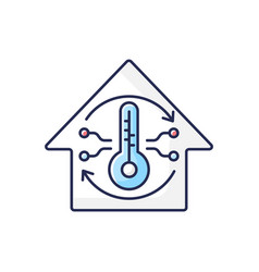Central conditioning system rgb color icon vector