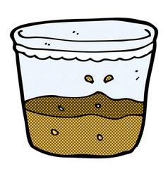 Comic cartoon glass of rum vector