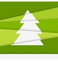Creative Christmas tree card Asymmetric Christmas vector