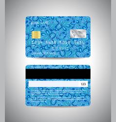 credit cards set with floral background design vector image vector image