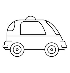 Driverless car icon outline style vector
