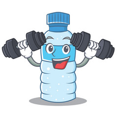 Fitness bottle character cartoon style vector
