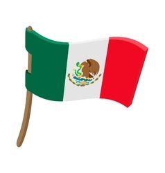 Flag of Mexico icon cartoon style vector image