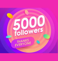 Flat followers for marketing design social vector
