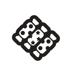 Flat icon in black and white candies vector