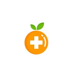 fruit medicine logo icon design vector image