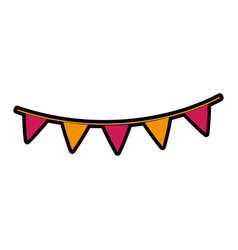 Garland party decorative icon vector