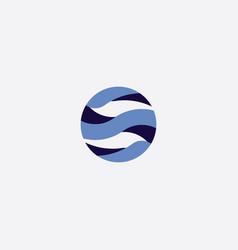 globe symbol logo element vector image