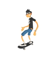 Guy in Shades On Skateboard vector image