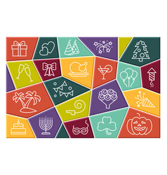 holidays and events icon set collection vector image
