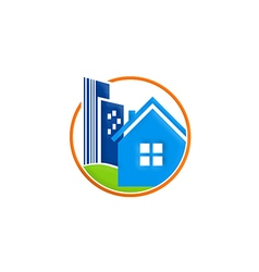 house cityscape ecology environment logo vector image
