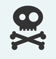 Icon of Jolly Roger symbol Pirate filibuster vector image