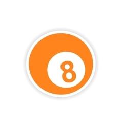 Icon sticker realistic design on paper billiards vector