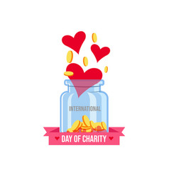 International day charity banner and poster vector